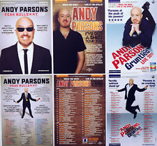 ANDY PARSONS COMEDIAN TOUR FLYERS X 6 -  2017 TOUR + 2013 + 2011 - MOCK THE WEEK