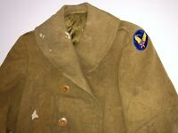 Vintage VTG Rare 1940s 40s WWII WW2 Mackinaw Officer Army Air Corps USA Jacket