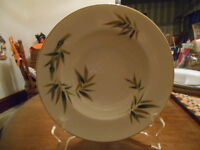 """Orient Cereal Soup Bowl(s) 8"""" Bamboo 5054 Noritake Porcelain White Green Brown !"""