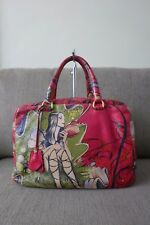 66% OFF! Limited Edition! Auth Prada Fairy Cervo Lux James Jean Bag Rosso/Red