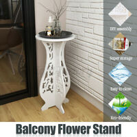 Balcony Floor Standing Room Plant Flower Pot Round Table Stand Display Decor