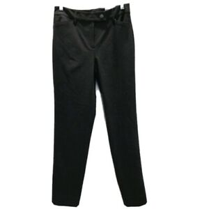 White House Black Market Womens Sz 2 Pants Dark Gray Tapered Ankle Pants Stretch