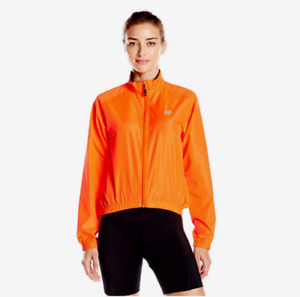 Canari Womens L NWT Radiant Windshell Jacket Solar Orange Cycling Bike Cycle