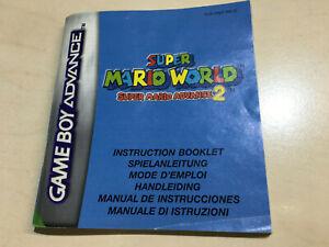 Super Mario Advance 2 Super Mario World Game Boy Advance Instructions only