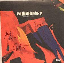 "MUDHONEY Mark Arm +3 Signed ""The Lucky Ones"" Album LP PSA/DNA #S04481"