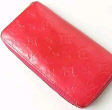 $1,190 Auth Louis Vuitton Vernis Zippy Long Wallet Pink Rose Pop LV