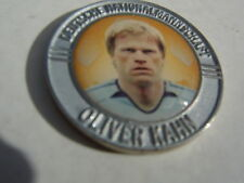 Pin Chip Münze OLIVER Olie KAHN silberfarben FCB FC Bayern München Fußball DFB