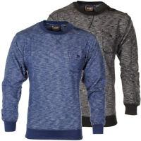 Mens Soulstar Button Detail Marl Space Dye Sweatshirt Fleece Jumper Crew Neck...