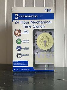 INTERMATIC T104-20 24 hr Electromechanical Timer Hot Water Heater Pool (3B)