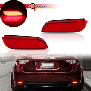 For Subaru Impreza WRX STi Red Lens Rear Reflectors Foglight Tail Brake Lamps