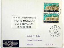 1958 PARIS MOSCOU PAR AIR FRANCE Premier vol AC114
