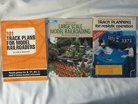 THREE (3) books on MODEL RAILROADING