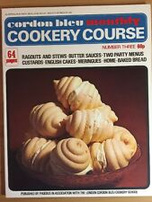 Vintage Cordon Bleu Monthly Cookery Course Number 3,   64 Pages