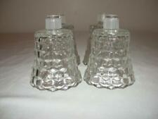 Set Of 4 Clear Glass Lady Love Votive Cup Candle Holders W/ Grommets