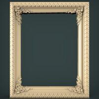(1480) STL Mirror Frame for CNC Router 3D Printer Artcam Aspire Cura