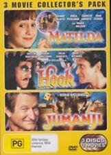 Jumanji + Hook + Matilda (3 Disc Set) Robin Williams New DVD R4