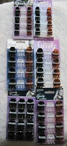 12 Goody Classics Darla Small Claw Clips Hair Jaw Plastic Black Tort Brown Clear