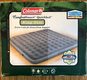 Coleman Inflated Quickbed Air Mattress~KING SIZE~Comfort Smart~Camping 5998-738