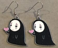 SPIRITED AWAY Earrings Surgical Hook New No-Face Anime Heart Love