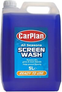 """""""Carplan"""" All Seasons Ready Mixed Screen Wash, 5L Ready to Use Prevents freezing"""