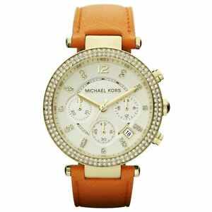 Michael Kors MK2279 Parkers Chronograph Champagne Dial Gold-Tone Ladies Watch