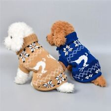 Knitwear Costume Coat Apparel Warm Clothes Pet Cat Sweater Jumper knitted Dog