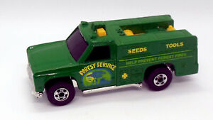 Hot Wheels Blackwall Forest Service Chevy Truck