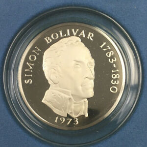 1973 Panama 20 Balboas Coin. Sterling Silver. 4.167 Troy  Ounces