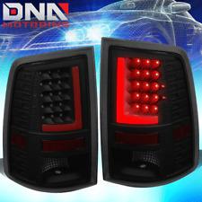 [LED RED L-STREAK] FOR 2010-2017 DODGE RAM BLACK SMOKED TAIL LIGHT BRAKE LAMP