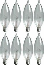 Ge Lighting Crystal Clear 66104 25-Watt, 220-Lumen Bent Tip Light Bulb with Cand