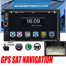 7'' Full HD Bluetooth Car GPS Stereo Radio 2 DIN Touch Screen FM/MP5/MP3/USB/AUX