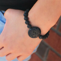 Black Lava Bead Bracelet Essential Oil Diffuser Bracelet Aromatherapy Stone Jewe