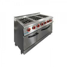 6 Burner with oven 750mm