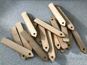 Garden Wooden Label Name Tags Herb Plant Pots Markers Eco Tray Stick Ply