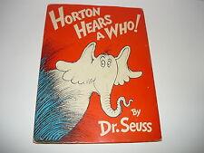 HORTON HEARS A WHO ! D/J 250/250, FULL EAR, 1ST ED D/J 2ND STATE BOOK