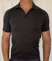 Lululemon Men's Size XL Metal Vent Tech Polo Gray Black DCO/BLK Shirt SS Golf NW