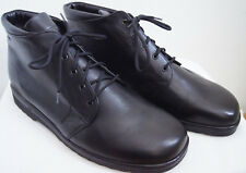 NEW--'Ganter' of Germany, Black  Leather Boots MENS 13 US (12 1/2 UK) P-MB-24