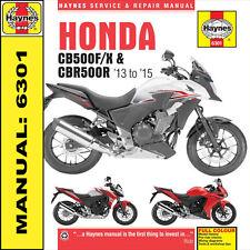 Haynes Manual 6301 Honda CB500 CB500F CB500X CBR500R 2013-  2015 NEW