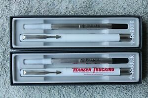 2 Vintage Parker Rollerball Advertising Pens New In Box, Old Dominion Freight