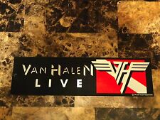 Van Halen Productions Metallic Foil Sticker Diver Down Eddie David Lee Roth Alex