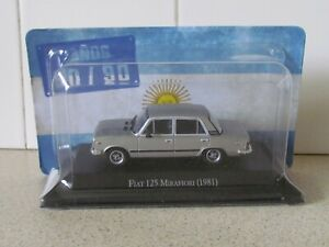 ALTAYA /IXO - 1981 FIAT 125 MIRAFIORI GREY 1/43 SCALE MODEL ARGENTINA COLLECTION