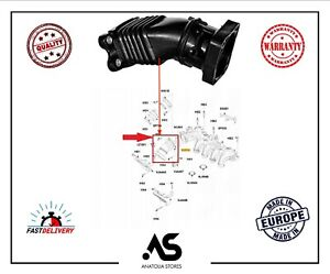 AIR INTAKE MANIFOLD TURBO PIPE FOR FORD FOCUS II C MAX MAZDA3 1.6 3M5Q9351EB