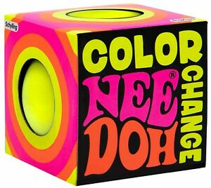 NeeDoh The Groovy Glob Color Change YELLOW 2.5-Inch Small Stress Ball
