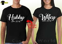 Couple Shirts Hubby Wifey Matching tees Love His and Hers  CUSTOMIZE YEAR