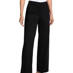 EILEEN FISHER Petite PM MP Black Stretch Crepe Pants Washable