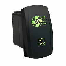 Rocker Switch 6B33G Laser CVT FAN dual backlit LED green waterproof car ATV UTV