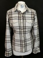 The North Face Check Shirt - Size M - Brown & White Mix - 100% Cotton
