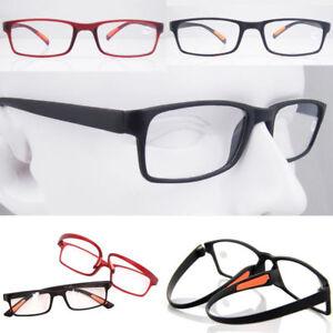 Comfortable Flexible Reading Glasses Red Black Eyeglass Frame RX +1 +1.5 +2 +2.5