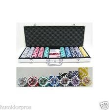 High Roller 13.5g 500 piece Clay Poker Chips w/ Aluminum Case Cards Dice NEW