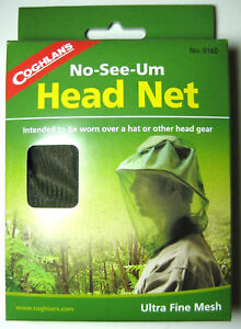Coghlans No-See-Um Fine Head Net / Camping, Backpacking